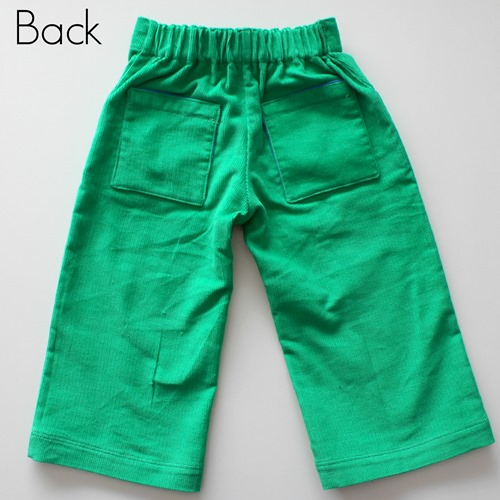 green pants back
