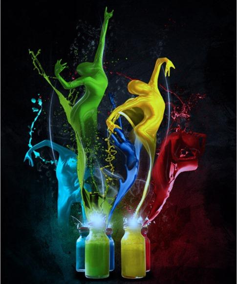 27. Crear bailarines de pinturas