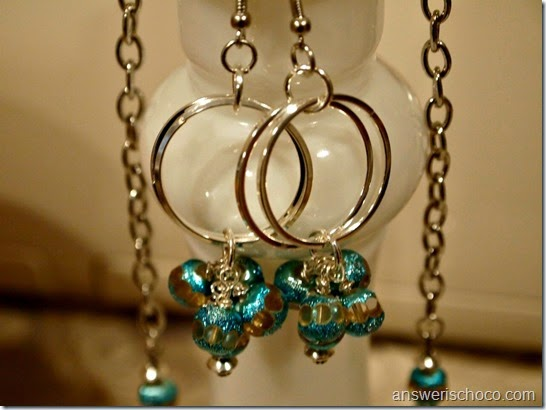 BMB Turq and Silver Earrings