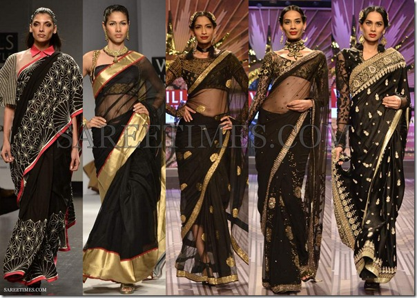 WLIFW_Spring_Summer_2013_Black_Sarees