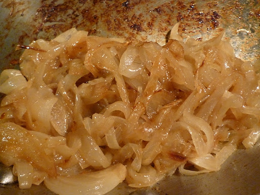 Onions caramelized.