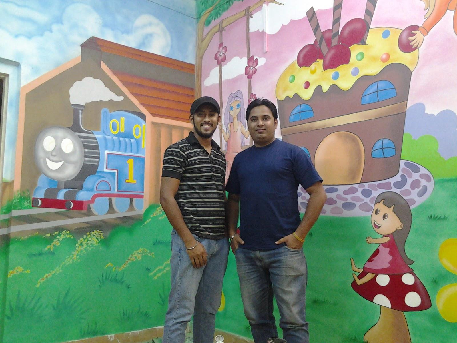 Kids school classroom wall murals thana mulund ghatkoper for Classroom mural