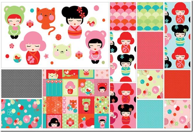 A Hello Tokyo - Fabric
