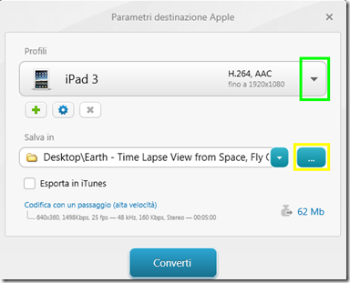 Freemake Video Converter parametri di conversione