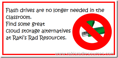 Use cloud storage to back up your teaching resources and help your students to save their work.  Find out more at Raki's Rad Resources.