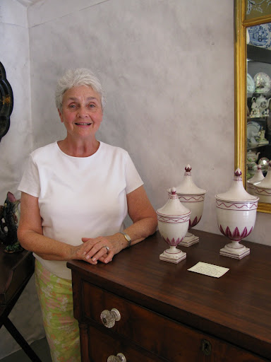 She spoke so lovingly about these three covered urns, originally intended to decorate a mantle.