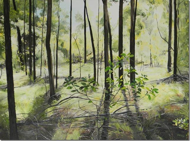 Mika-McNaughton Gabi.Sapling silhouettes.2012.oil on linen.92x122cm