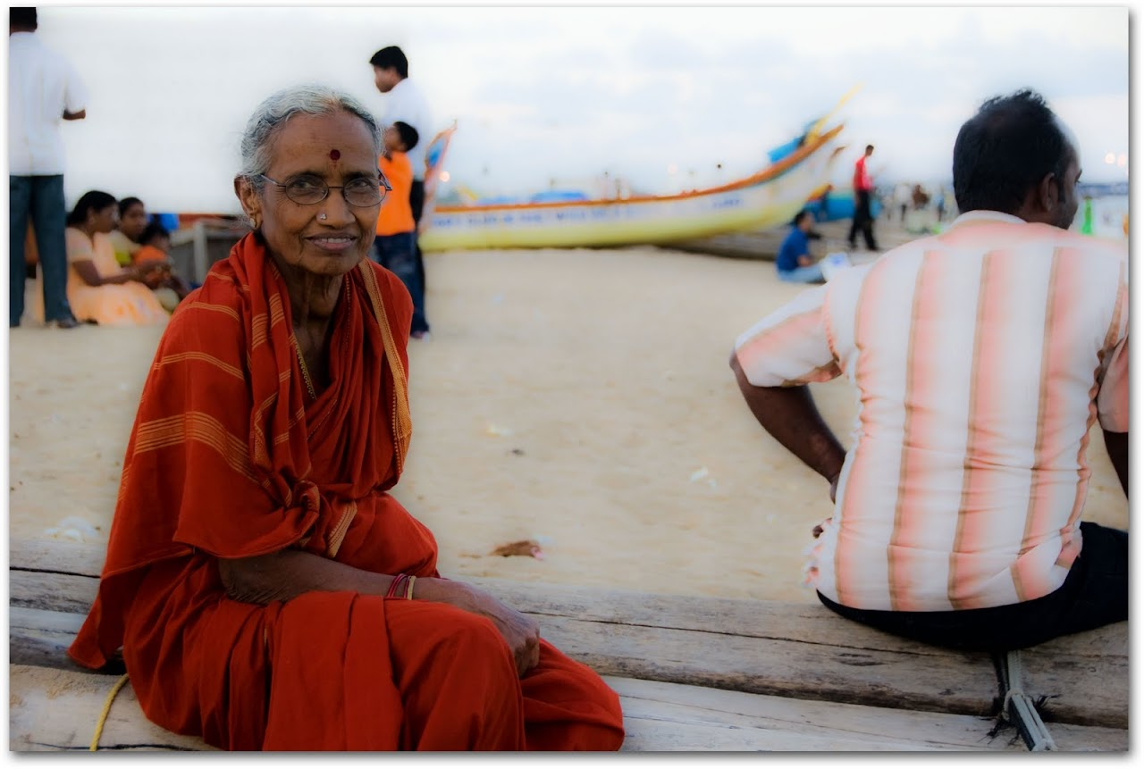 Grandmother at Marina Beach