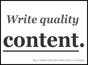 content of your blog