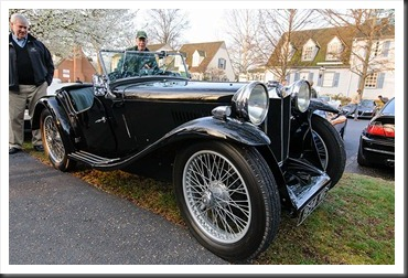 1934 MG at Coffee and Cars