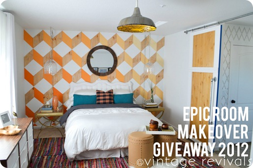 Epic Room Makeover Giveaway 2012 Vintage Revivals Blog