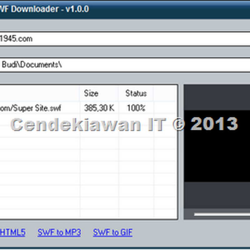 ThunderSoft Free Flash SWF Downloader