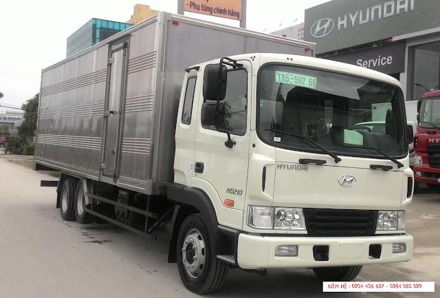 xe tải hd210 hyundai 13,5 tấn thùng kín