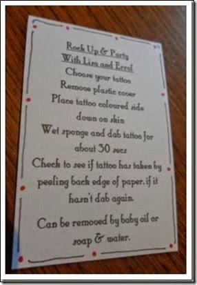 tattoo wedding favor