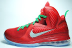 nike lebron 9 gr christmas 7 02 Throwback Thursday: Look Back at LBJs 2011 Christmas Shoes