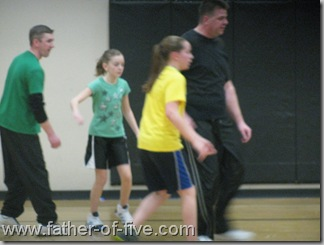 Dad vs Daughter Basetball