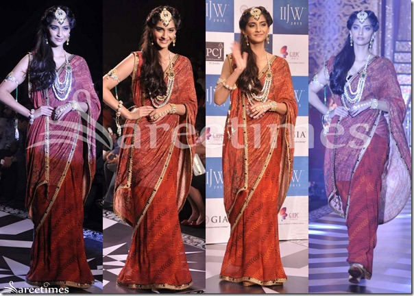Sonam_Kapoor_Brown_Saree