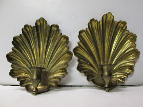 Brass Sconce Pair