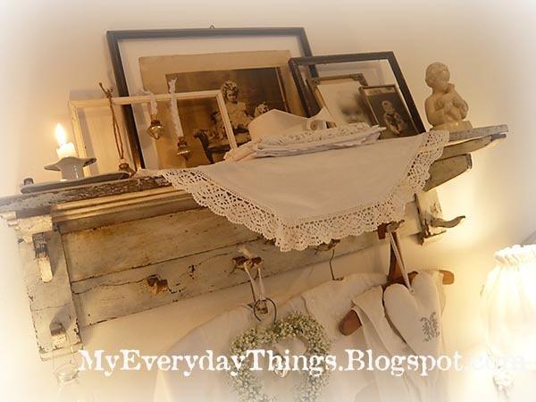 White Bedroom Shelf Decoration