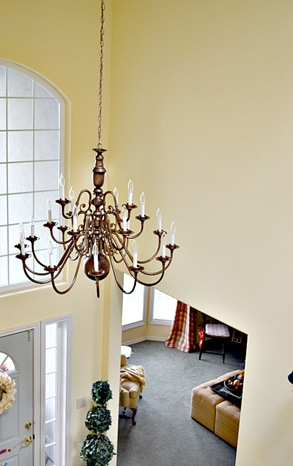 Brass chandeliers makeover at the picket fence 113 064 aloadofball Images