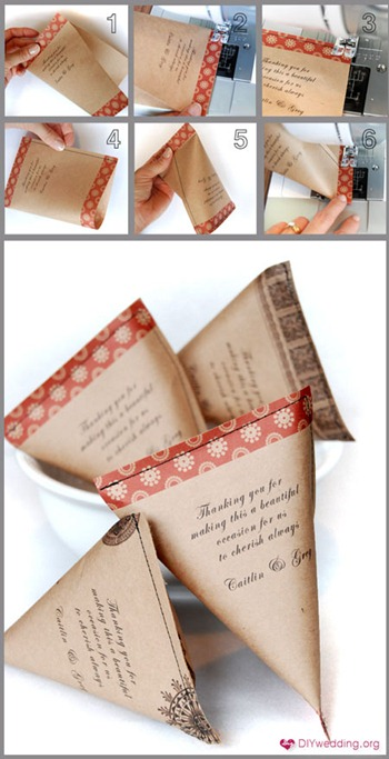 wedding favor twist bags tutorial