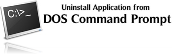 Uninstall Application from DOS