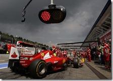 Massa nelle prove libere del gran premio di Germania 2012