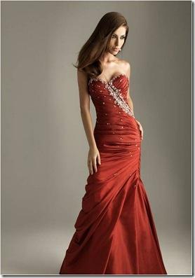 vermelho bordado sereia