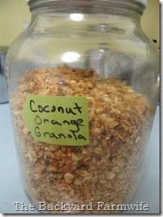 Coconut Orange Granola - The Backyard Farmwife