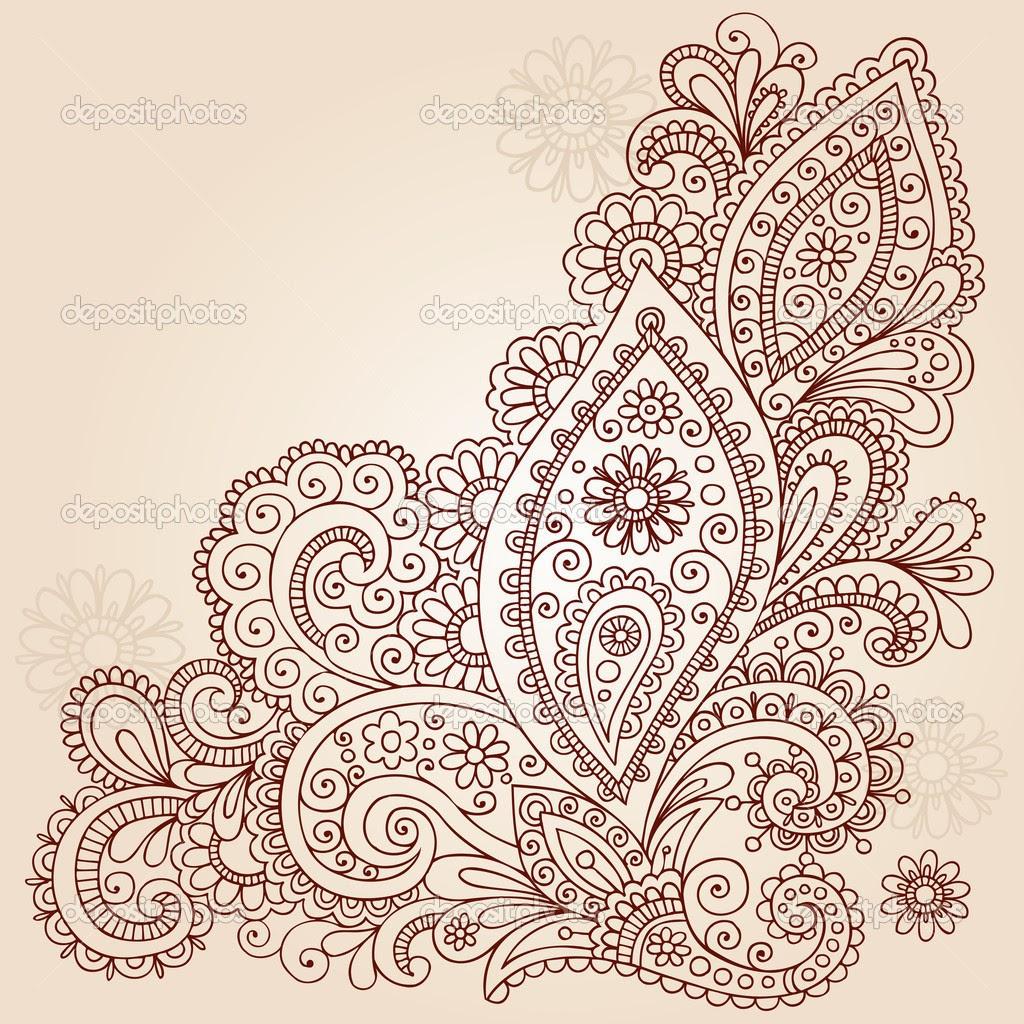 Paisley Henna Inai Pengantin Ukiran Henna Dan Make Up
