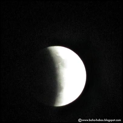 1-April 2014 Lunar Eclipse Begins