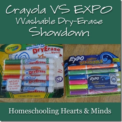 Crayola VS EXPO Washable Dry-Erase Showdown @Homeschooling Hearts & Minds