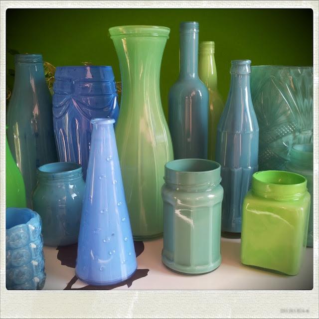 Vasen färben mit Acryl