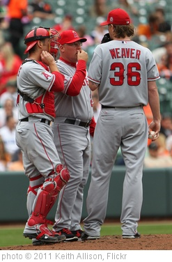 'Jeff Mathis, Mike Butcher, Jered Weaver' photo (c) 2011, Keith Allison - license: http://creativecommons.org/licenses/by-sa/2.0/