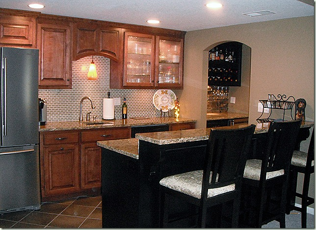 family room bar, countertops, granite, remodel, second kitchen