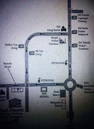 peta rumah pengantin