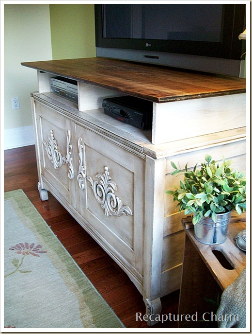 wooden entertainment unit after 038a