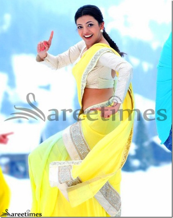 Kajal_Agarwal_Yellow_Saree