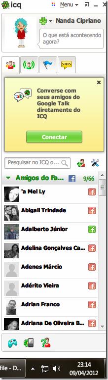 Adicionar GTalk ao ICQ