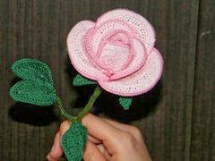 Horgolt rózsa3