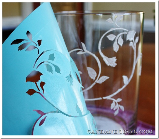 Martha Stewart Stencils Etched Glass
