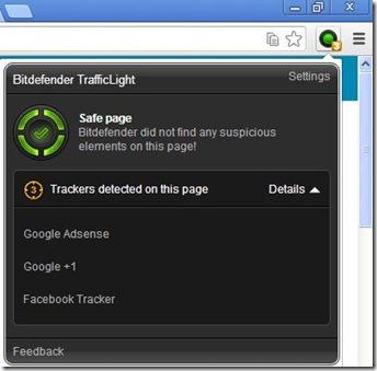 Bitdefender TrafficLight icona estensione