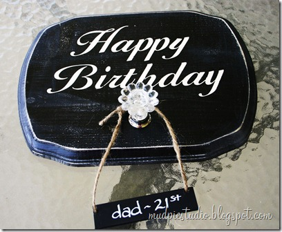 Happy Birthday Sign - Tutorial 1