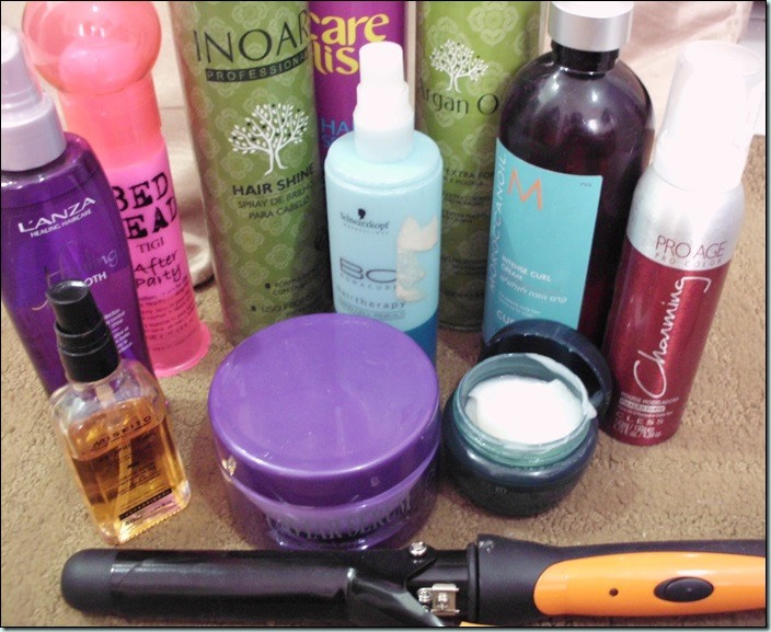 Leave-in–Mousse–Spray- Finalizadores para estilizar o cabelo fino.