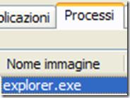 Terminare e riavviare il processo explorer.exe che non risponde