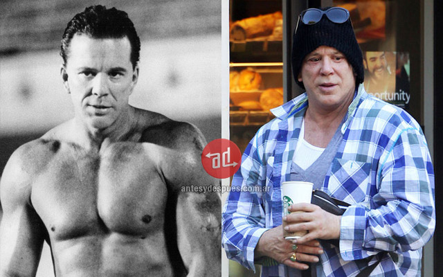 Antes y despues de Mickey Rourke