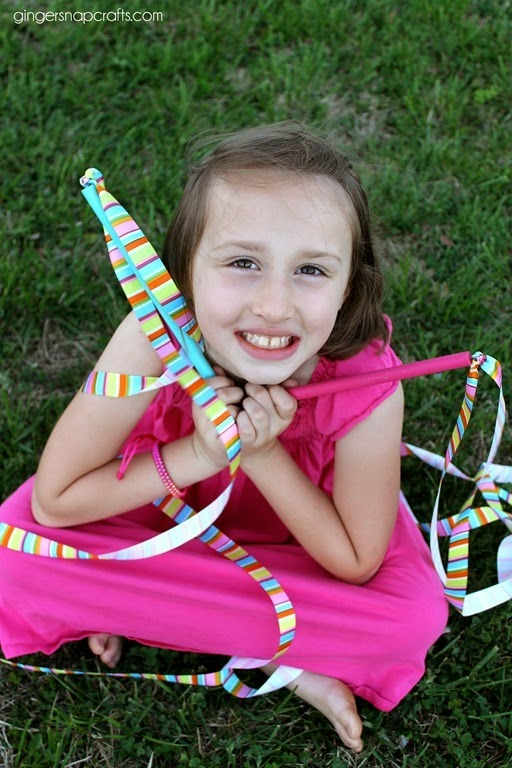 ribbon wand with Offray Ribbon