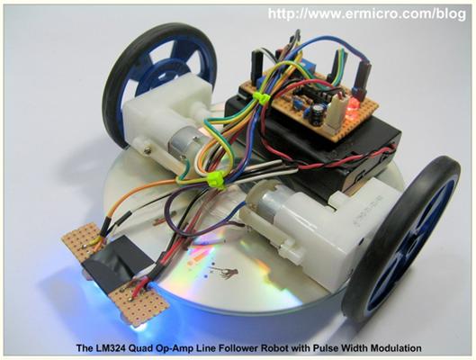The mobile line follower robot