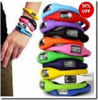 Buy 1 Get 1 Free -Silicon Sports Watch At Best Price Rs. 199 only
