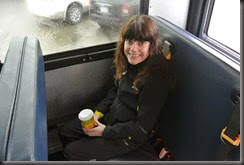 Cheryl on the Bus